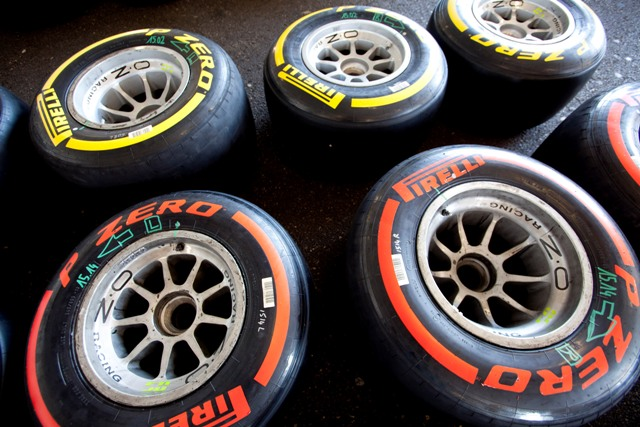 Pirelli tyres - Photo Credit: Alastair Staley/GP2 Media Service