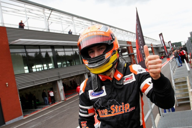 German racer Markus Pommer has taken his first FIA Formula Two Championship pole after edging out Daniel McKenzie by half a tenth of a second in first qualifying at Spa-Francorchamps....