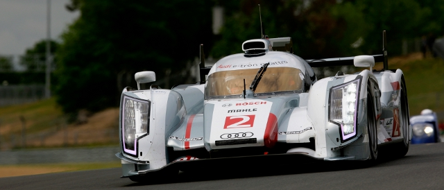 Allan McNish set the fastest time of the test (Photo Credit: Audi Motorsport)