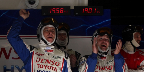 Toyota celebrate, 2012 24 Hours of Le Mans (Photo Credit: Toyota Racing)