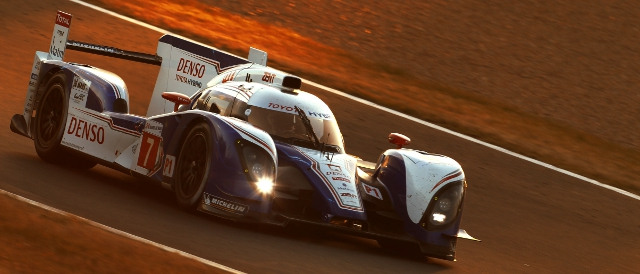 The #7 TS030 Hybrid led briefly before a safety car period (Photo Credit: Toyota Racing)