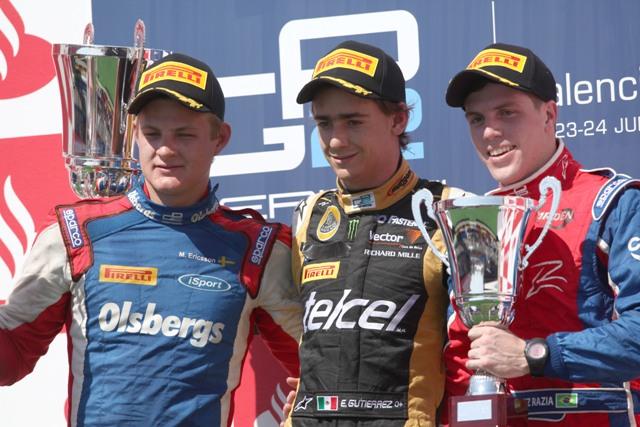 Marcus Ericsson, Esteban Gutierrez, Luiz Razia - Photo: Daniel Kalisz/GP2 Media Service
