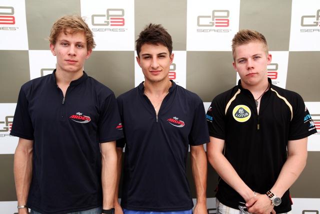 David Fumanelli, Mitch Evans and Aaro Vainio - Photo Credit: GP3 Media Service