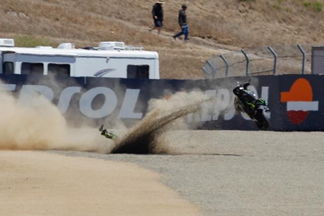 Cal Crutchlow goes off at turn ten - Photo Credit: MotoGP.com