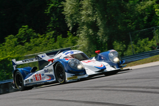 Guy Smith battled Lucas Luhr for pole at Lime Rock Park (Photo Credit: Dyson Racing/Regis Lefebure)
