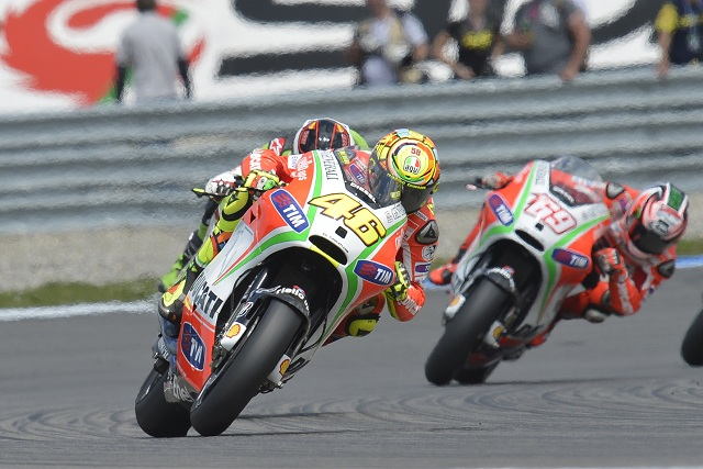 Valentino Rossi finished the Dutch TT a lap down in thirteenth after being forced to pit midway through the race