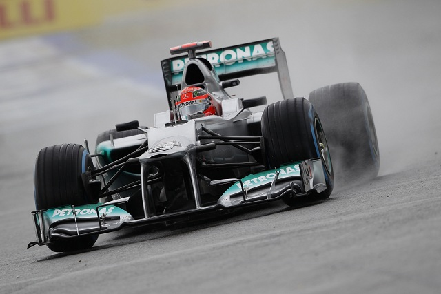 Michael Schumacher is looking forward to challenging for a podium finish at Hockenheim tomorrow after qualifying fourth this afternoon