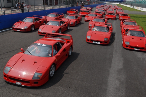 More than 70 Ferrari F40 will make up a record breaking sight as part of the car's silver anniversary (Photo Credit: Silverstone Classic)