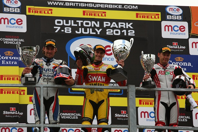 The top three in the British Superbike Championship - Photo Credit: Motorsport Vision