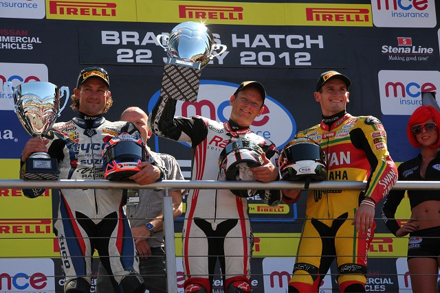 Shane Byrne completed a Brands Hatch double after holding off Josh Brookes for the second time in the day