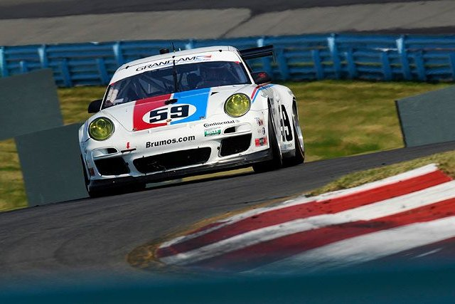 Brumos' #59 led late on but a late pitstop cost the a chance of victory (Photo Credit: Chapman/Autosport Image)