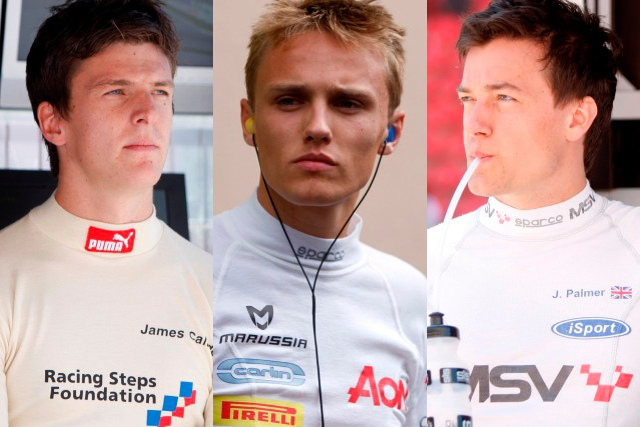James Calado, Max Chilton and Jolyon Palmer - Photo Credits: GP2 Media Service