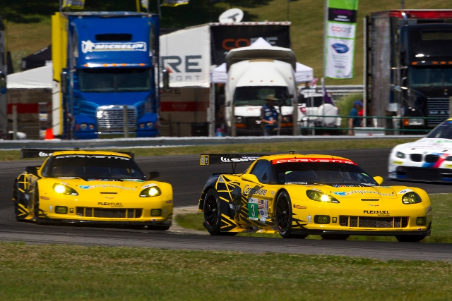 The American Le Mans Northeast Grand Prix finished with both Corvettes on the GT podium (Photo Credit: Richard Prince/Corvette Racing Photo)