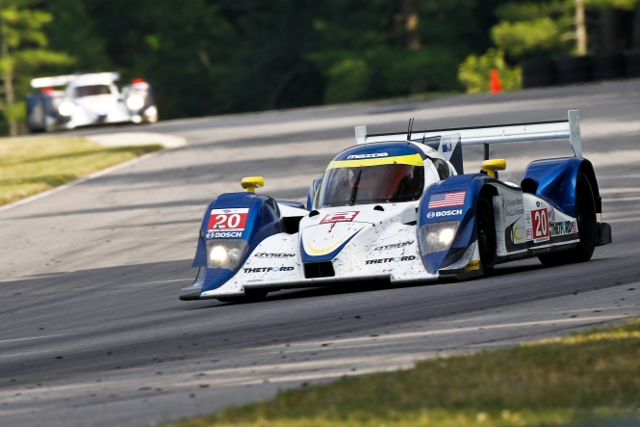 Both Dyson Racing's Lola-Mazdas encountered trouble alt Lime Rock (Photo Credit: Dyson Racing/Regis Lefebure)
