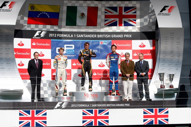 Johnny Cecotto, Esteban Gutierrez and Jolyon Palmer - Photo Credit: Alastair Staley/GP2 Media Service