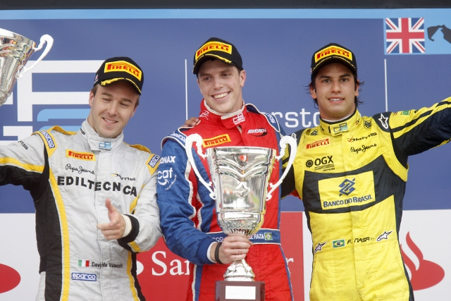 Davide Valsecchi, Luiz Razia, Felipe Nasr - Photo Credit: GP2 Media Service