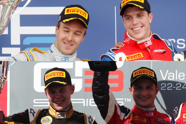 Davide Valsecchi, Luiz Razia, Aaro Vainio and Mitch Evans - Photo Credit: GP2/GP3 Media Service