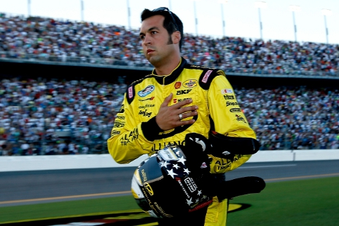 Nationwide Series driver Sam Hornish Jr. was drafted in as a last minute sub for a suspended Allmendinger (Photo Credit: Chris Graythen/Getty Images)