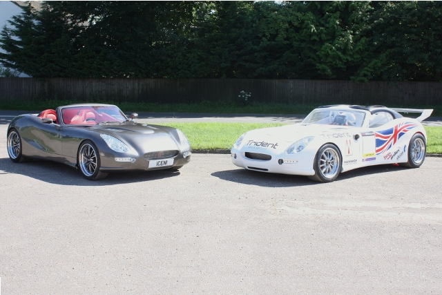 Trident's road and race Iceni GT cars (Photo Credit: Trident Sports Cars)