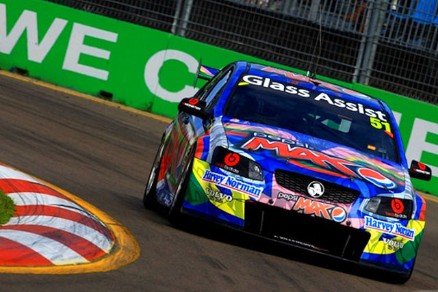 Jacques Villenueve in the Pepsi Max Crew Holden Commodore Photo credit: Pepsi Max Crew