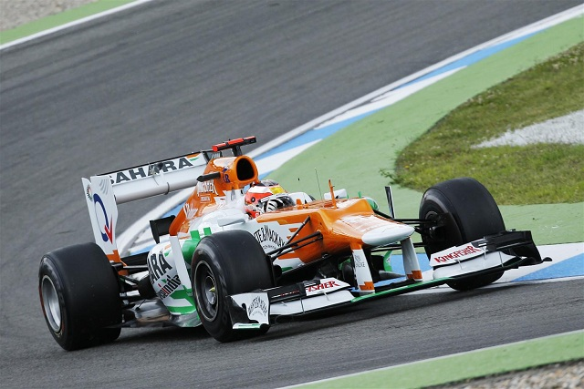 Paul Di Resta gave his seat up for Jules Bianchi in the first session - Photo Credit: Force India Formula One Team