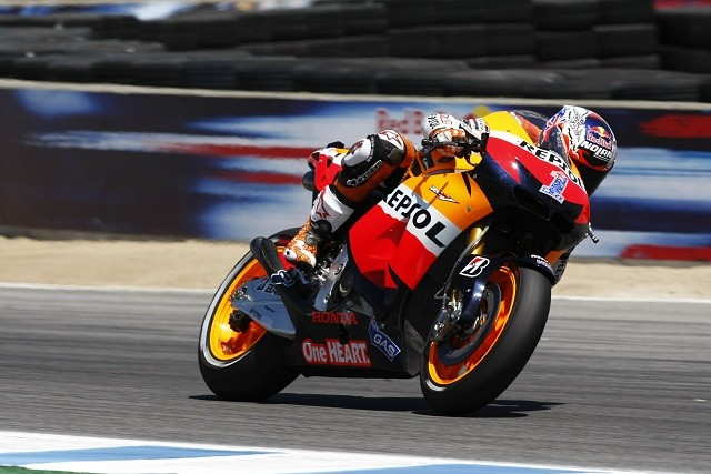 Casey Stoner admitted he had to pace himself on the softer tyre to claim victory in the United States Grand Prix