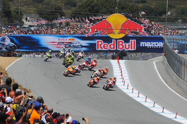 The riders launch off the grid at the start of last year's US GP - Photo Credit: MotoGP.com