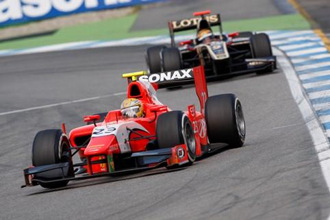 Luiz Razia and James Calado - Photo Credit: Daniel Kalisz/GP2 Media Service