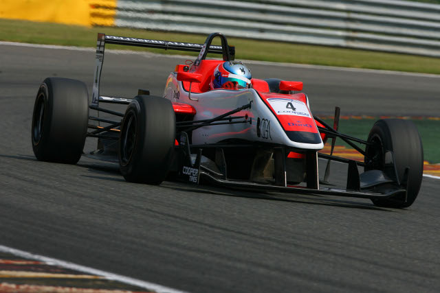 Felix Serralles lost the lead from pole, but re-passed Sainz Jr. for victory (Photo Credit: SRO)