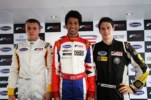 Max Snegirev, Luciano Bacheta and Kevin Mirocha - Photo Credit: Formula Two