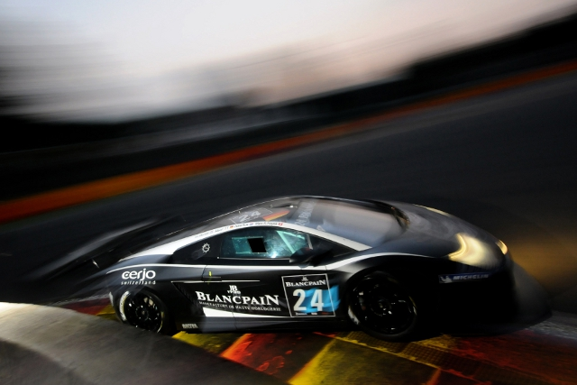 The Blancpain-Reiter Lamborghini was one of several cars to hit trouble (Photo Credit: Dan Bathie/l'endurance)