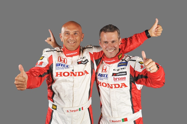 Gabriele Tarquini and Tiago Monteiro: Photo Credit: Honda