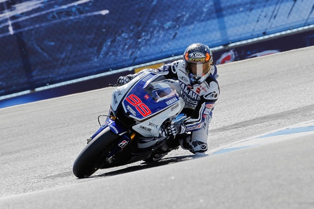 Jorge Lorenzo rode the fastest ever two-wheeled lap of Laguna Seca to snatch pole position from Casey Stoner in the dying seconds