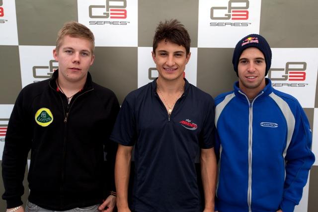 Aaro Vainio, Mitch Evans and Antonio Felix Da Costa - Photo Credit: Daniel Kalisz/GP3 Media Service