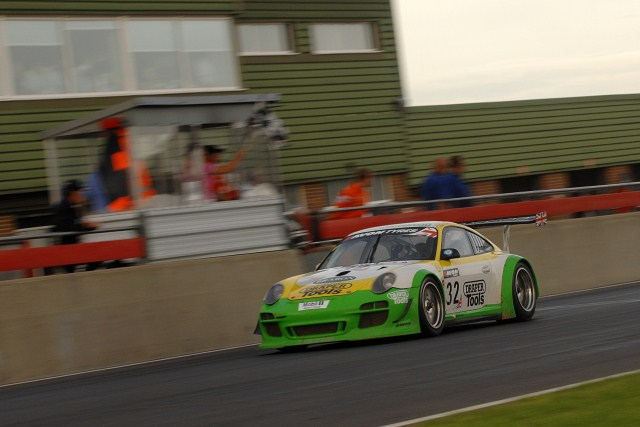 Steve Tandy passed beneath the checkered flag for win number two (Photo Credit: Chris Gurton Photography)