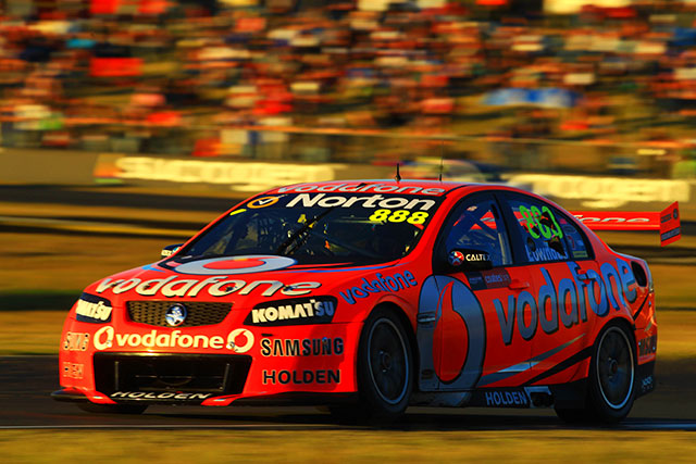 Craig Lowndes wins the opening Ipswich 300 Photo credit: TeamVodafone