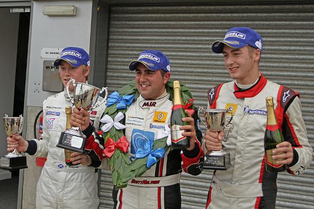 Formula Renault BARC Donington Race Two Podium - Photo Credit: Octane Photographic Ltd