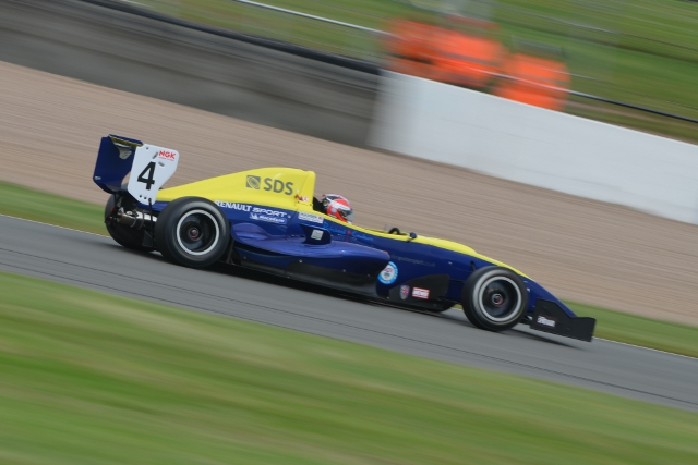 Title rivals Josh Webster and Scott Malvern took a pole apiece in qualifying for Rounds Ten, Eleven and Twelve of the 2012 Protyre Formula Renault BARC Championship at Donington Park....