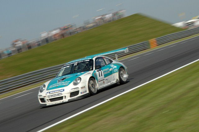 Ahmad Al Harthy on track at Snetterton (Photo Credit: Chris Gurton Photography)