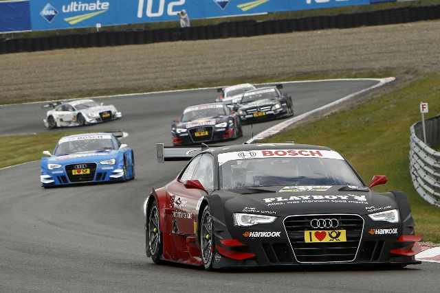 Edoardo Mortara won as Audi drivers annexed the podium (Photo Credit: DTM Media)