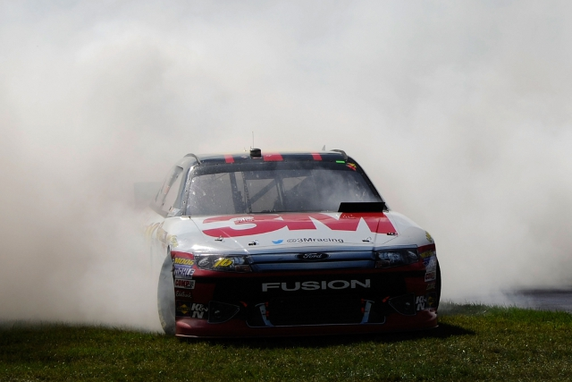 Biffle triumphed after a Jimmie Johnson engine failure (Photo Credit: Jared C. Tilton/Getty Images for NASCAR)