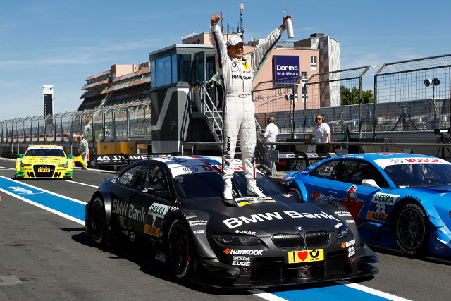 Spengler celebrates in the Nurburgring pitlane (Photo Credit: DTM Media)