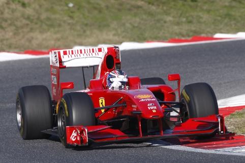 Michael Lewis testing a Ferrari (ferrari.com)