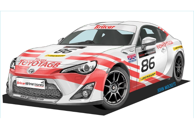 The GT86's red and white livery harks back to the BTCC cars of the mid 1980s (Image Credit: Toyota)