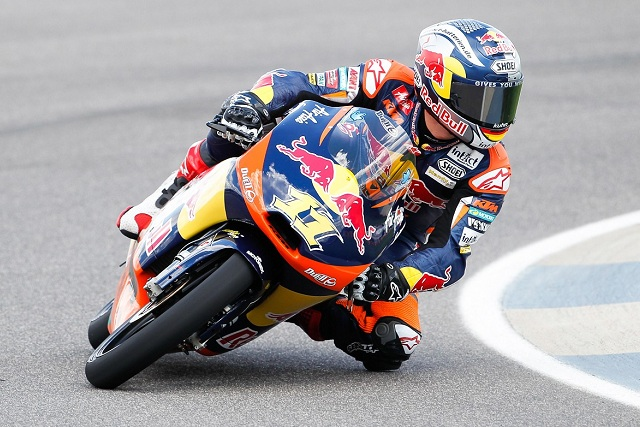 Sandro Cortese claimed a rather fortunate pole position for the Indianapolis Grand Prix after a red flag 23 seconds from the end denied Efren Vazquez