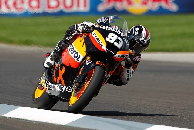 Marc Marquez took another step closer to the Moto2 World Championship after thrashing the opposition at Indianapolis, winning by over five seconds