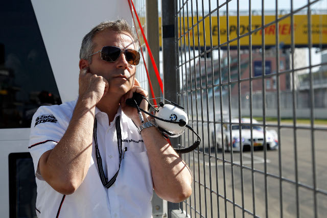 Jens Marquardt watches as Martin Tomczyk streaks past the Nurburgring pits (Photo Credit: BMW AG)