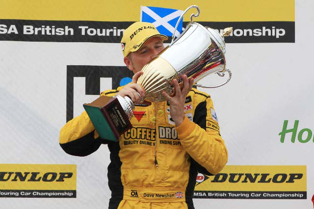 Dave Newsham scored a second BTCC win at his 'home' track (Photo Credit: btcc.net)
