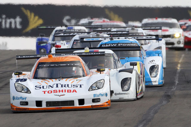 Ricky Taylor led the race early after starting from pole position (Photo Credit: Grand-Am)