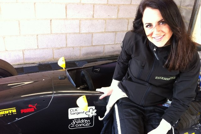 Laura will host children from CLIC Sargent on her Formula Renault BARC return